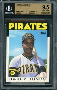 1986 Barry Bonds Topps Traded #11 RC Rookie BGS 9.5 Gem Mint