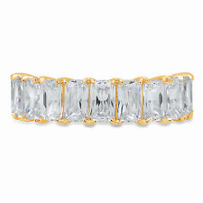 2.9ct Emerald Cut Infinity anniversary Engagement Bridal Band 14k Yellow Gold