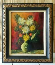 """J. MARQUE FRENCH MID-CENTURY ORIGINAL PAINTING - STILL LIFE SIGNED - 24""""W x 28""""H"""