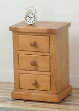 2 x  Rutland Pine Small Bedside Table 3 drawer dovetailed and ready built  (Pr )