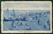 Roma Ladispoli Barche STRAPPINI ABRASA cartolina VK0817