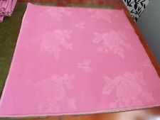 42 cm x 42 cm Rose Pink Floral Linen Poly/Cotton Napkins Pack of 12