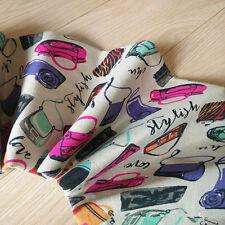 50x150cm Cotton Linen Fabric Stylish Handbag Zakka DIY Bag Home Deco Bag 717-7 B