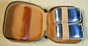 Pair Of Brushes & Comb Set With Zippered Case