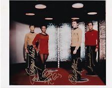 Takei, Nichols, Koenig, Doohan, Star Trek, Autographed 8x10 Photograph