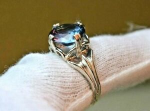 4.90+CT WOMAN S RING.RUSSIAN WELL TEST REAL LAB  ALEXANDRITE  COLOR CHANGE