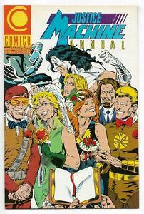 Justice Machine Annual #1 Comico 1989 VF+