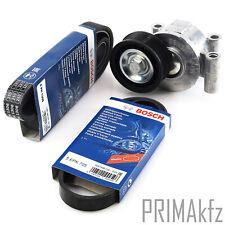 2x Bosch V-Ribbed Belts + Tensioner Ford Mazda 3 Volvo 1.8 2.0 Petrol