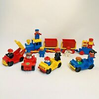 VTG Lego Duplo Vintage Vehicle Train Race Car Job Lot Figures Fire Engine bundle