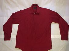 Men's Claiborne Long Sleeve Button Down Shirt Red  Dress Formal Size L