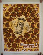 Maroon 5 Poster Five Silkscreen Toyota Center Houston Texas October 14 2007