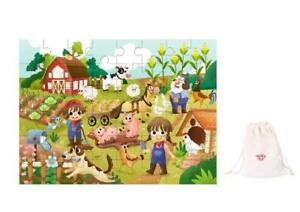 NEW Tooky Toy Wooden Puzzle - Farm Animals - Educational Childrens Puzzle 48pc