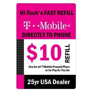 $10 T-MOBILE FAST REFILL DIRECT TO PHONE 🔥 GET IT TODAY 🔥 TRUSTED SELLER