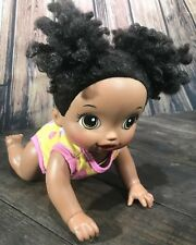 Baby Alive 2016 Baby Crawling & Talking Doll African American WorkIng Rare