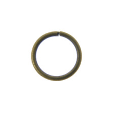 8mm Thin Jump Rings (0.8mm) - Antique Brass Plated - 100pk