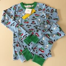 """HANNA ANDERSSON Awesome Boy's """"CAR"""" Cotton Pajama Set, 10-12 years 150 cm NEW!!"""