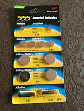 12 Pack Alkaline Button Cell Battery AG4 LR44 AG13 CR2025 CR2032 A23 A27 remote