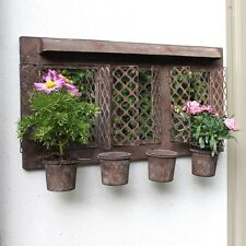 Brown meal outdoor wall mirrored garden planter pretty vintage style home