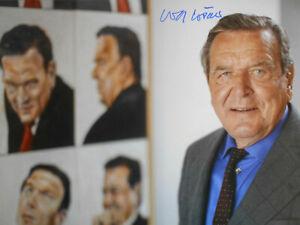 GERHARD SCHRÖDER original signiert – GROSSFOTO !!!