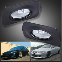New Clear Bumper Driving Fog Lights+Bulbs+Switch Fit For Acura TSX JDM 2004-2005