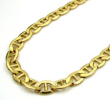 "28"" Inch 5mm 11 Grams 10k Yellow Gold Mariner Anchor Hollow Chain Necklace Mens"