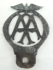 Early AA Automobile Association Car Badge For Restoration