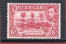 St.Lucia GV1 1938-48 6d claret P13.5 sg 134 HH.Mint