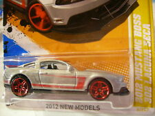 Hot Wheels 2012 Mustang Boss 302 Laguna Seca 2012 New Models Silver