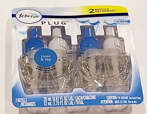 Febreze Plug-In Linen & Sky Scent Air Freshener Oil Refills 0.87 fl oz 2 pack