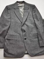 men's Petrocelli suit size 39 jacket 33 pants navygray pinstripe polyester wool