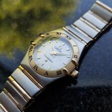 OMEGA Ladies Constellation 14K & SS MOP Dial Dress Watch, c.1990s Swiss MA80