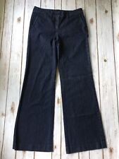 "Talbots Trouser Jeans Women 6 28 Dark Blue Denim Cotton Stretch 31.5"" Inseam"