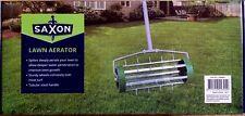 Saxon Rolling Lawn Aerator Roller Spike Tool Rolling Garden Scarifier Yard Grass