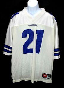 Deion Sanders Dallas Cowboys Nike White Jersey Men's Size XXL EUC Vintage
