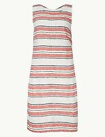 NEW RRP £19.99 Ex Marks and Spencer Striped Knee Length Shift Dress