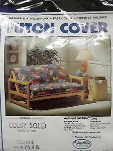 Futon cover, full sz.,cotton twill, never used.