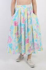 Vintage Flower Printed Women`s Skirt Summer Multi Coloured - SK058