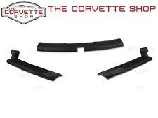 C3 Corvette A Pillar Post & Header Molding - Black Interior Trim Package Coupe