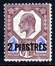 BRITISH LEVANT KE VII 1905 Surcharged 2 PIASTRES on 5d. SG 14 MINT