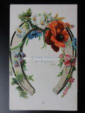 Embossed German Poppy Postcard: Herzlichte Gluckwunsche zum Gaburtstag c1908