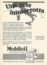 W7878 MOBILOIL - Una rete ininterrotta... - Pubblicità del 1929 - Old advert