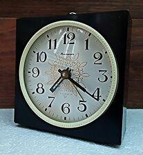 VINTAGE Alarm Clock YANTAR Desk Table Watch USSR ЯНТАРЬ Mechanical RARE