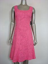 Nine West Women's Low Scoop Nk Sheath A-Line Dress Pink Lemonade 4