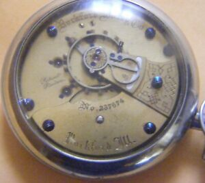 """Rockford 15J 18s.Pocket Watch.#237674 """"Salemam"""" Case Runs"""