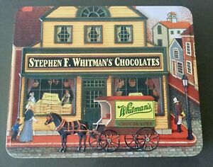Whitman's Tin Box Bygone Era Old Fashioned Shop Theme Embossed 2013 Collectable