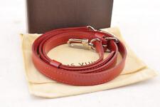 LOUIS VUITTON Epi Shoulder Strap Red 102-120cm LV Auth 3482