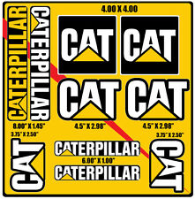 NEW!10 STICKER SHEET! Caterpillar CAT Vinyl Decal Logo Equipment Various Sizes