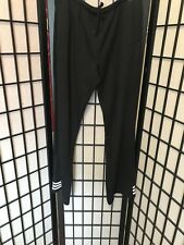 vintage ADIDAS black /white PANTS zip Strips Cotton Polyester Bottom Stripes