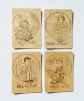 Vintage Old Maid Cards Set of 4