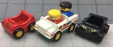Lego Duplo Vintage Figures & White/Green OCTAN CARS  Vehicle 5-Piece Lot